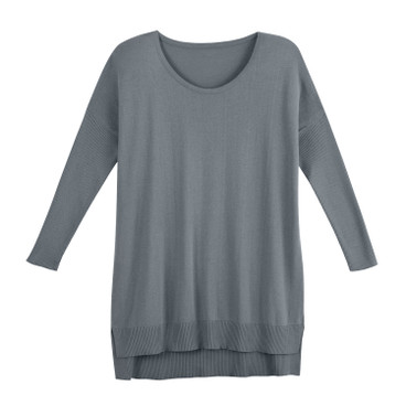 Oversized-pullover, zilver