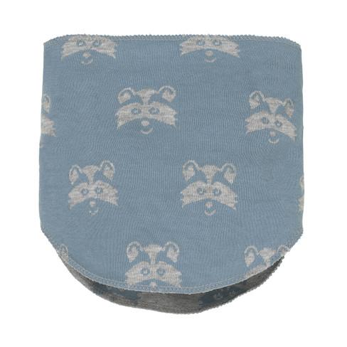 Keerbare sjaalkraag met Waschbär-kopje, grijs-gemêleerd