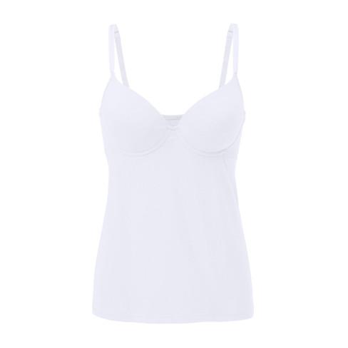 Bh-hemd met cups, gebroken wit 80C
