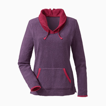 Fleece pullover, pruim/bes