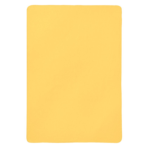 Flanellen deken, geel 100 x 150 cm