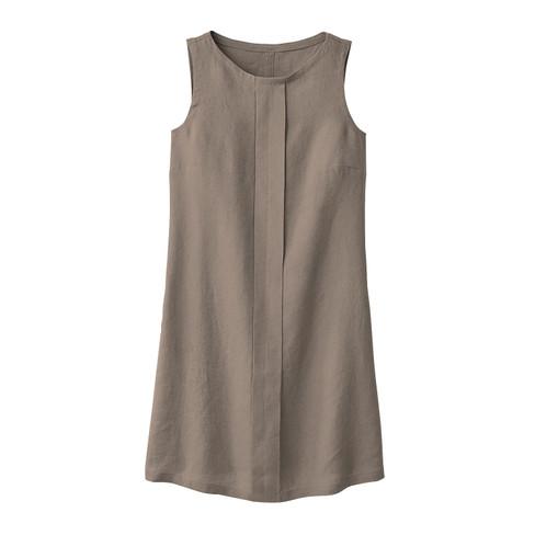 Linnen jurk, modder 40