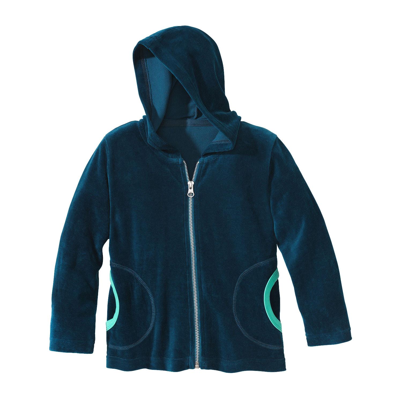 minibär DESIGN Velours jasje van biologisch katoen, petrol | Waschbär Eco-Shop from Waschbär