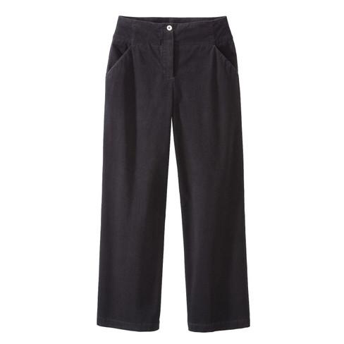 Katoenfluwelen broek MARLENE, zwart 52