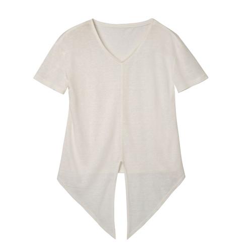 Shirt met korte mouw, natuurwit 34