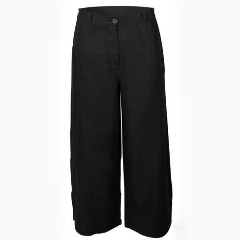 7/8 linnen broek - nonchalant sportief, zwart 44