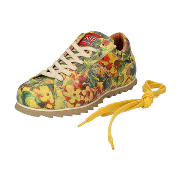 "Sneakers ""Ripple Flowers"", limoen"
