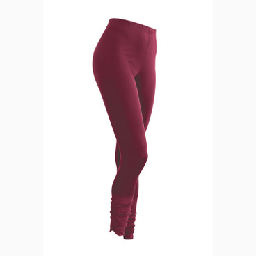 Zijden 7/8-leggings, bordeaux