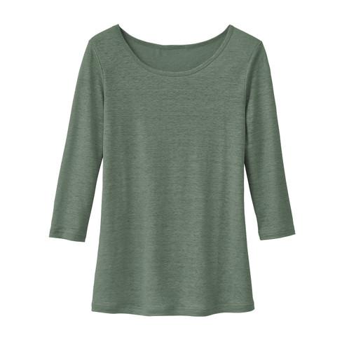 Shirt met ronde hals, zeegras 36/38