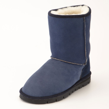 Boots met lamsvel, urban denim