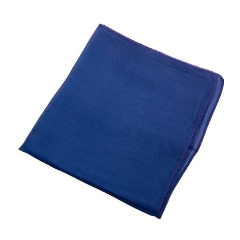 Doek van biologische zijde, donkerblauw l 27 x b 27 cm