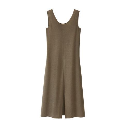 Vrouwelijke losvallende jurk in A-lijn, salie 34