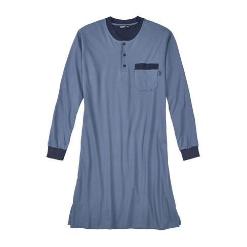 Kumpf Nachthemd voor heren, staalblauw | Waschbär from Waschbär