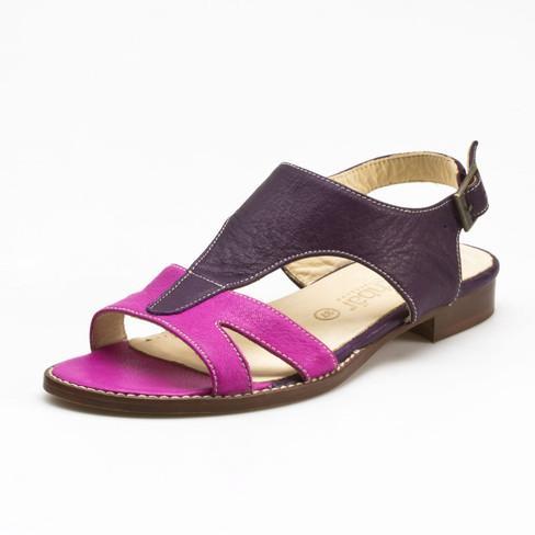 Sandaal, pink/pruim