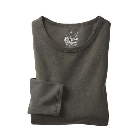 Shirt met lange mouwen, kaki XL from Waschbär