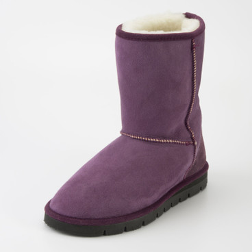 Boots met lamsvel, purple