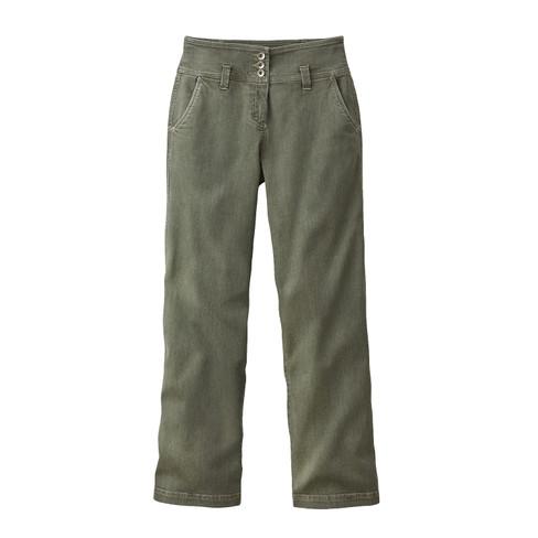 Bio-jeans wijd, steengroen 40