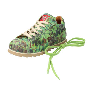 "Sneakers ""Ripple Flowers"", appelgroen"