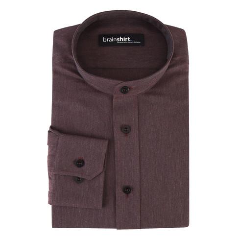 Overhemd MONTANA uit biologisch katoen, aubergine 41/42