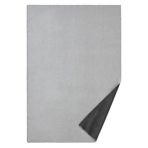 Omkeerbare deken van scheerwol, grijs 140 x 220 cm