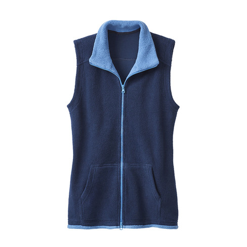 Fleecevest, nachtblauw/jeansblauw 44/46