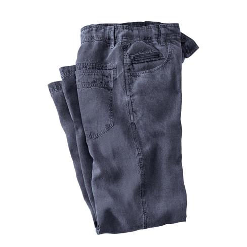Hennep broek, nachtblauw M