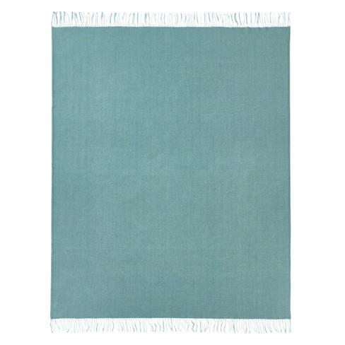 Scheerwollen deken, turkoois-melange 140 � 200 cm