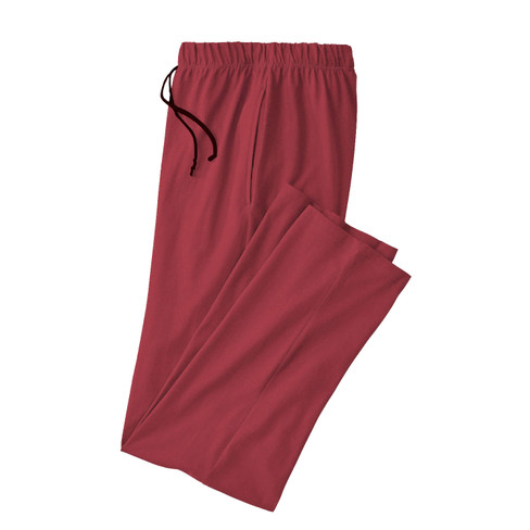 Pyjamabroek, wijnrood XXL