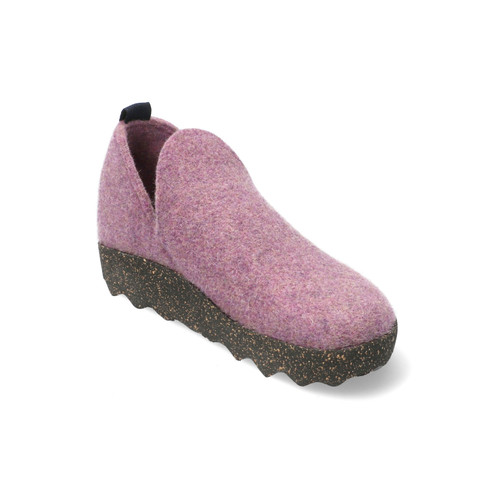 "Walkstof slipper ""City"", hardpaars"