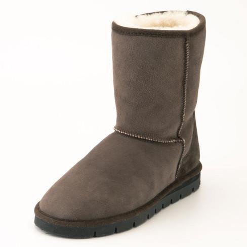 Boots met lamsvel, toffeebruin 36