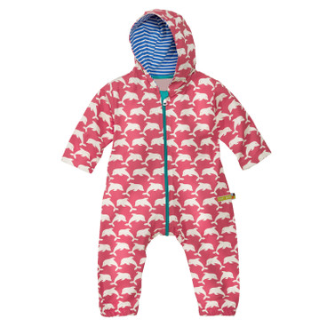 Baby outdoor-overall Bionic-Finish Eco, koraal