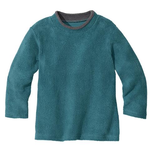 Pullover van bio-fleece, petrol 98/104