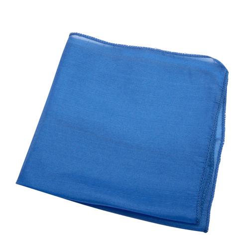 Doek van biologische zijde, blauw l 27 x b 27 cm
