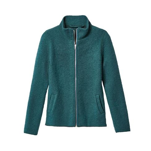 Wollen walkstof jas, smaragd 44/46