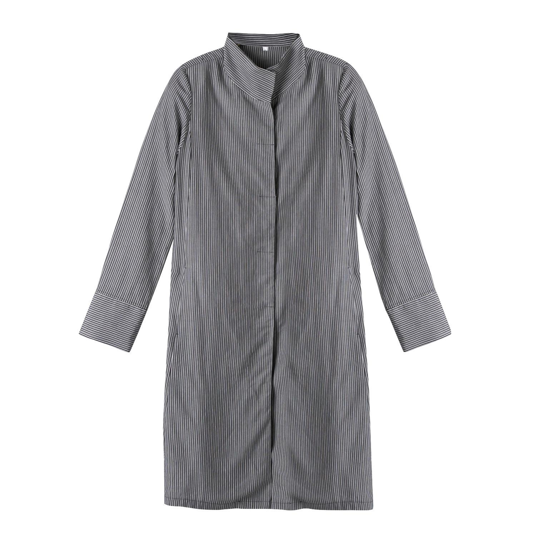 enna Lange blouse van TENCEL™ met fijne ingeweven strepen, grijs-gestreept   Waschbär Eco-Shop from Waschbär