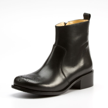 Lage biolaarsjes JohnW Shoes, zwart