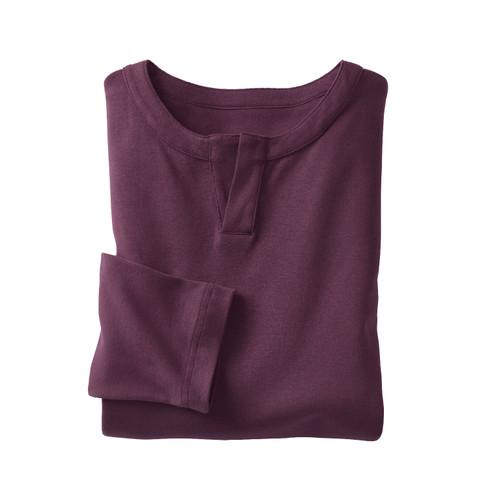 Henley shirt, plum XXL