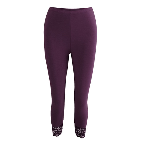 3/4-leggings, aubergine 44