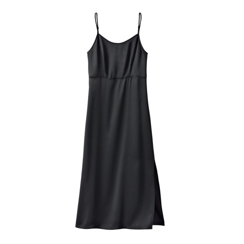 Nachthemd met Empire-silhouet uit puur zijdesatijn, schwarz 34