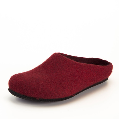 Wolvilten huisschoen, rood 44