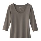 Shirt 3/4-mouw, taupe