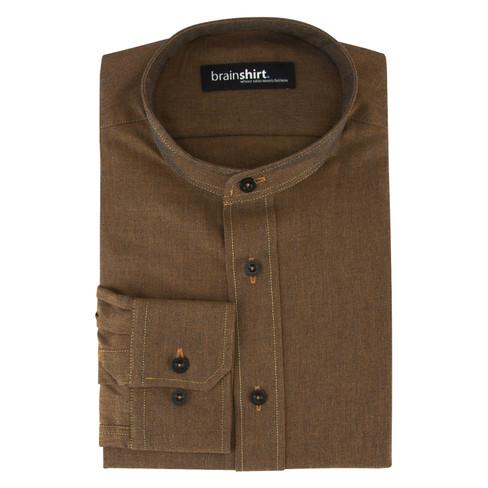 Overhemd MONTANA uit biologisch katoen, roest 43/44