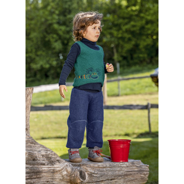 Walkstof overshirt met monsters, bessen