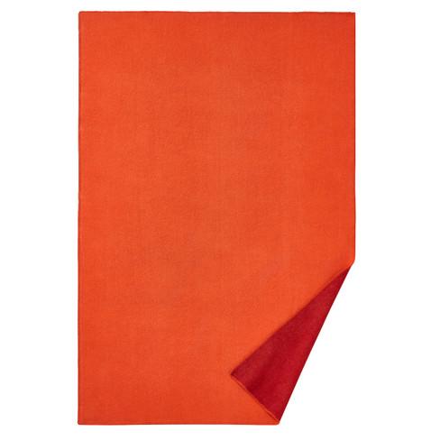 Omkeerbare deken van scheerwol, terra 140 x 220 cm