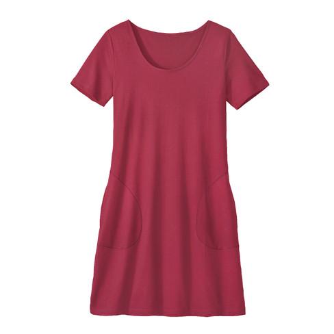 Jersey-jurk van bio-katoen, kers 44/46