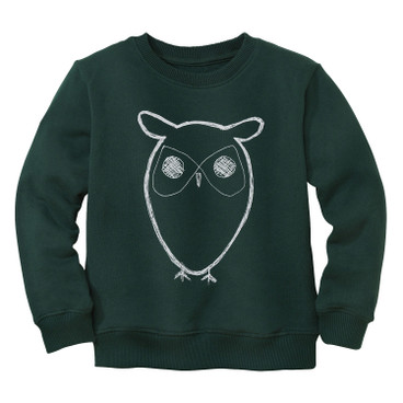 Pullover Uil, groen