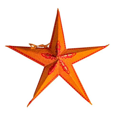 Kerstster, oranje-rood