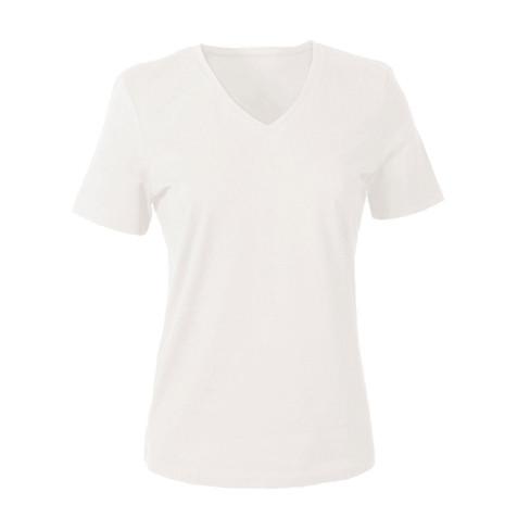 V-shirt voor HAAR, natuurwit 36