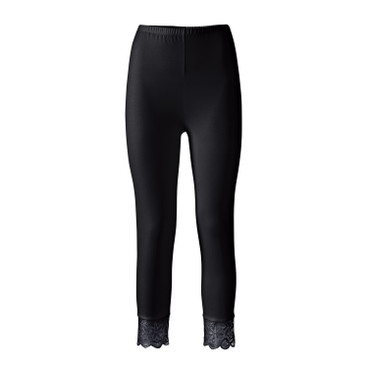 3/4-leggings, zwart