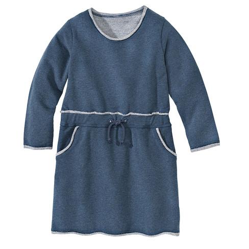 Sweatjurk, jeansblauw-gemêleerd 98/104